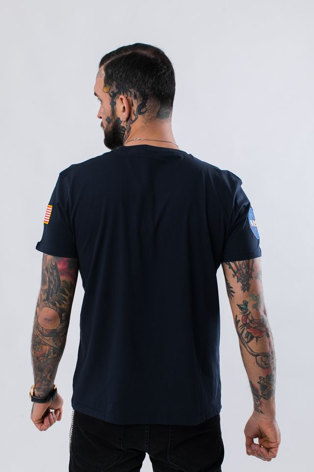 Koszulka Alpha Industries  <br/><small>NASA T-SHIRT 07 REP. BLUE </small>  176506-07
