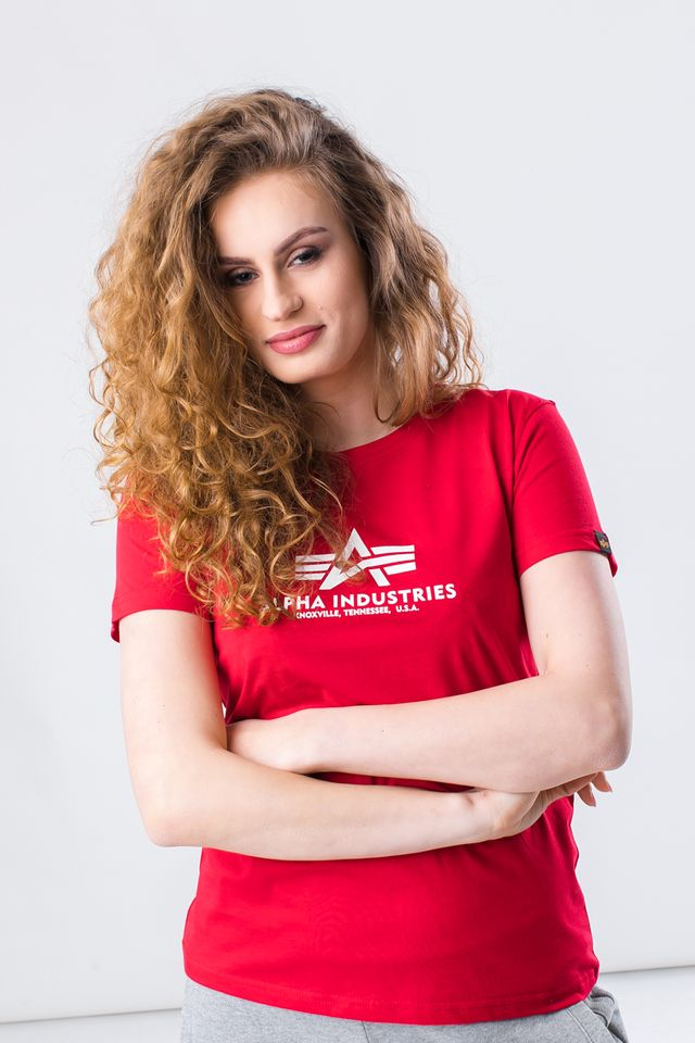 Alpha Industries NEW BASIC T WMN 328 SPEED RED 196051-328