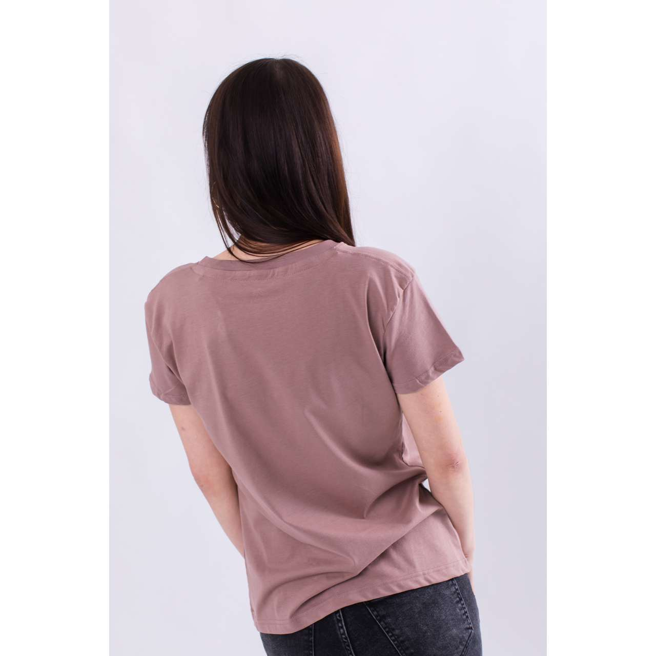 Koszulka Alpha Industries  <br/><small>NEW BASIC T WMN 416 MAUVE </small>  196051-416