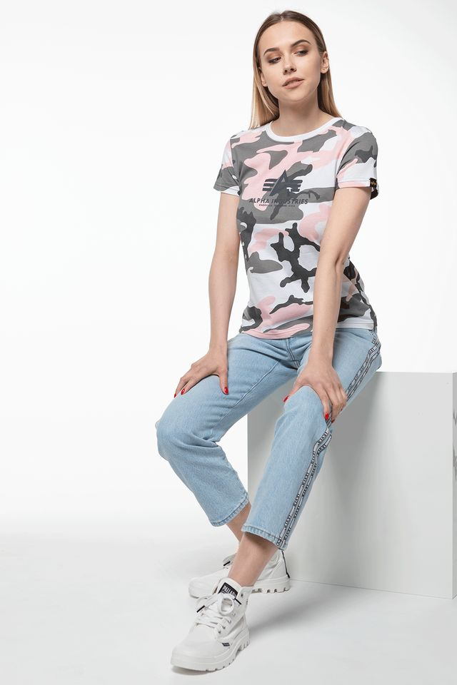 Alpha Industries NEW CAMO BASIC T WMN 492 PINK CAMO 196052-492