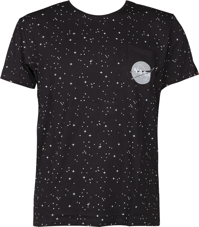 Koszulka Alpha Industries  <br/><small>STARRY T 03 BLACK </small>  176509-03