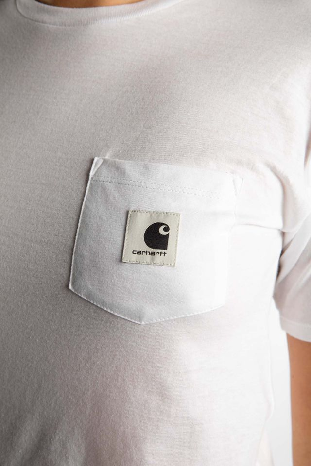Koszulka Carhartt WIP  <br/><small>W' S/S CARRIE POCKET T-SHIRT 0290 WHITE/GREY HEATHER </small>  I021890-029003