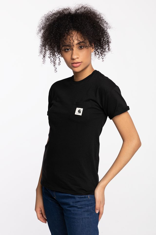 BLACK W' S/S CARRIE POCKET T-SHIRT 8991