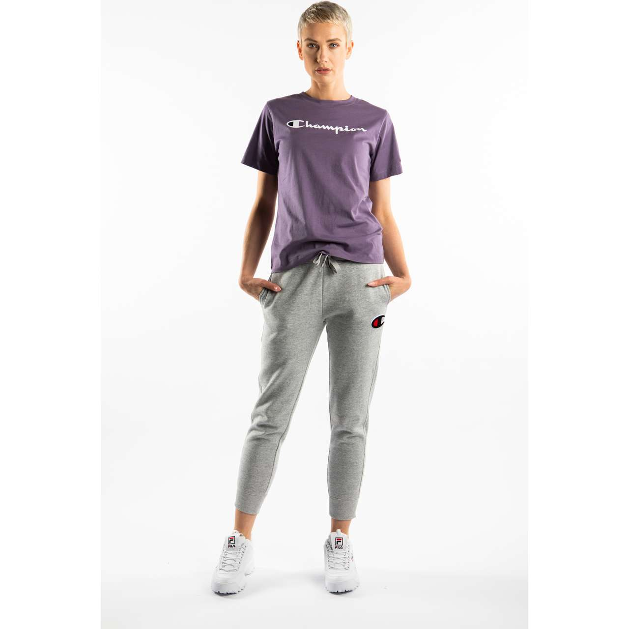 Koszulka Champion  <br/><small>CREWNECK T-SHIRT VS050 PURPLE </small>  111971-VS050