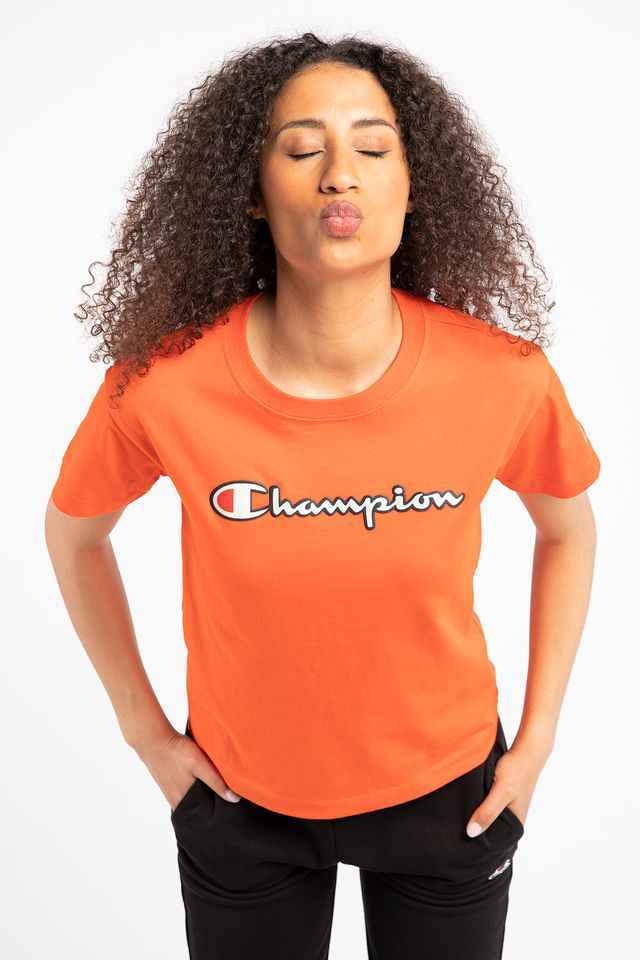 ORANGE CREWNECK T-SHIRT OS014