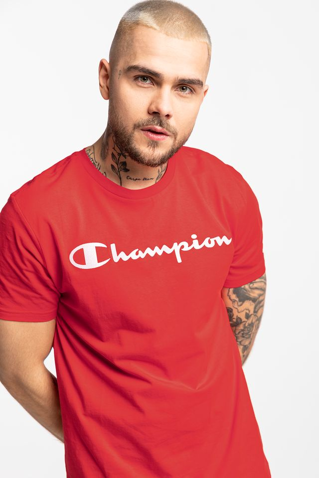 Champion CREWNECK T-SHIRT RS046 RED 214142-RS046