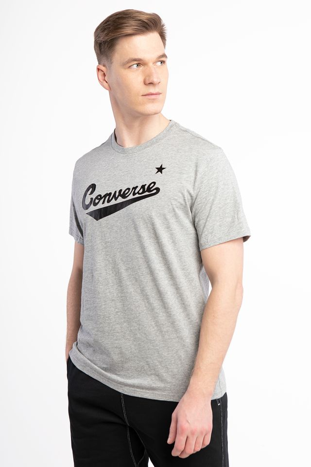 Converse CENTER FRONT LOGO TEE A04 GREY 10018235-A04