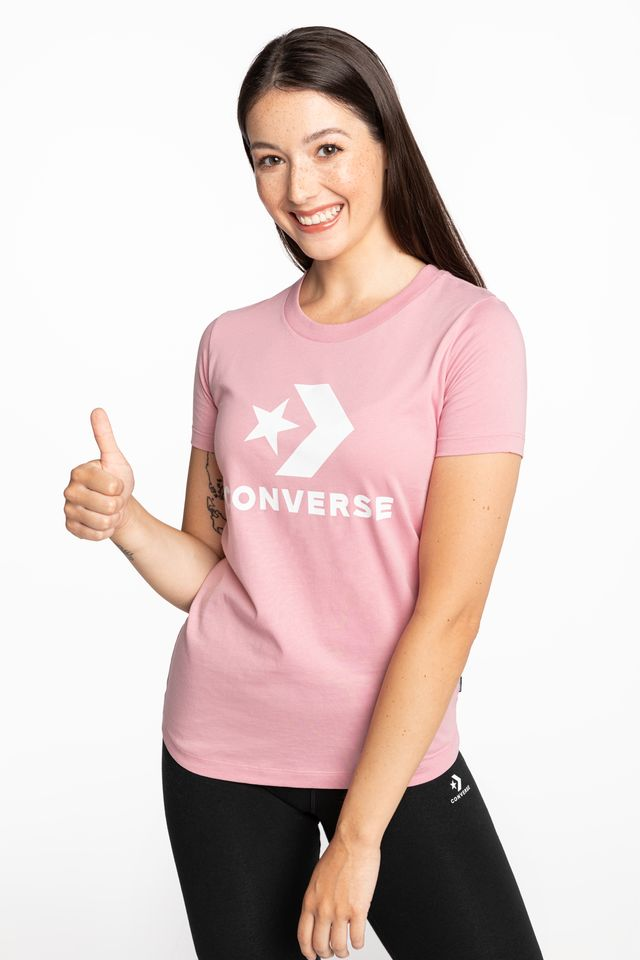 PINK T-SHIRT 569 W STAR CHEVRON TEE