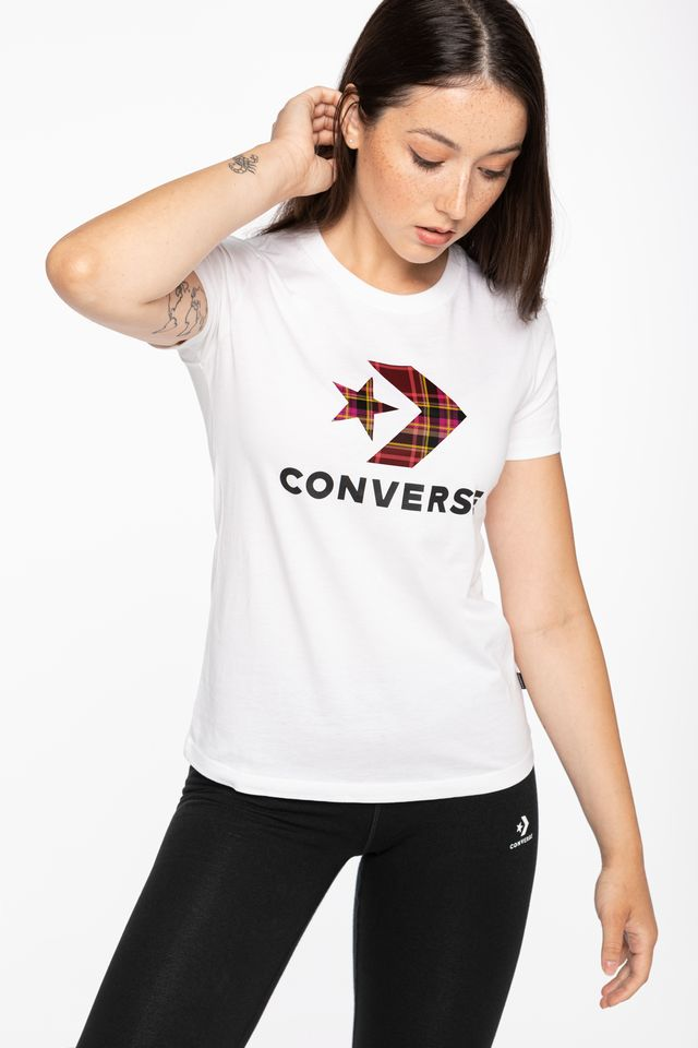 WHITE T-SHIRT 874 W Star Chevr.Plaid In Tee