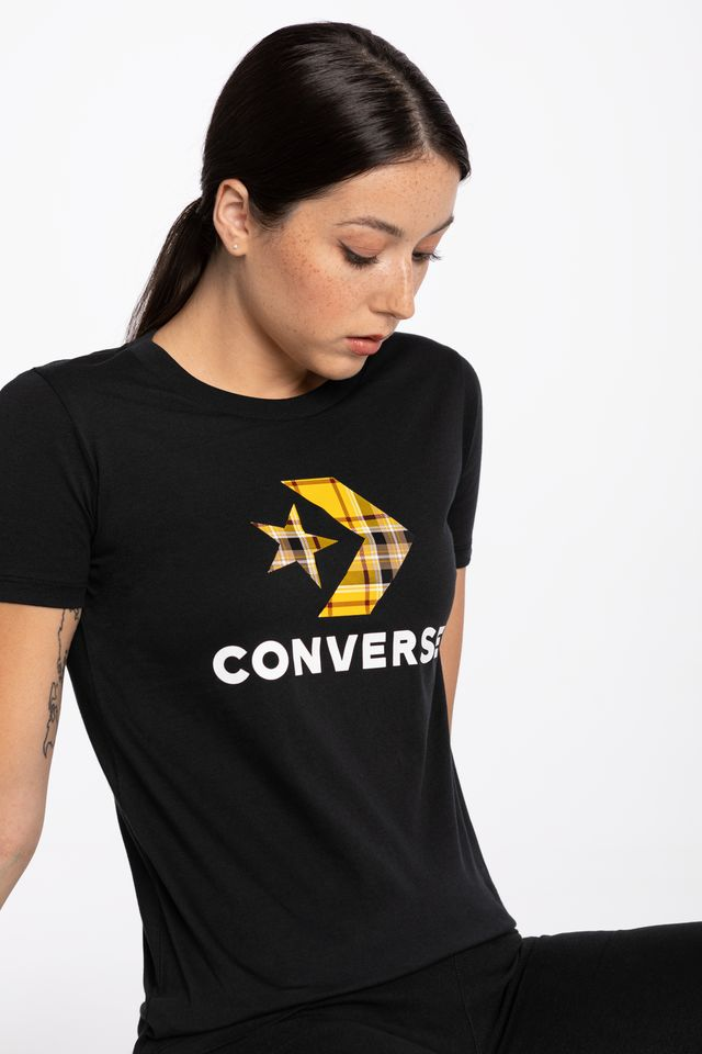 BLACK T-SHIRT 874 W Star Chevr.Plaid In Tee
