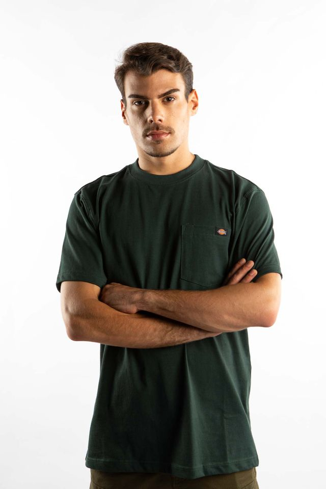 Dickies SHORT SLEEVE HEAVY WEIGHT 450 GH HUNTER GREEN WS450