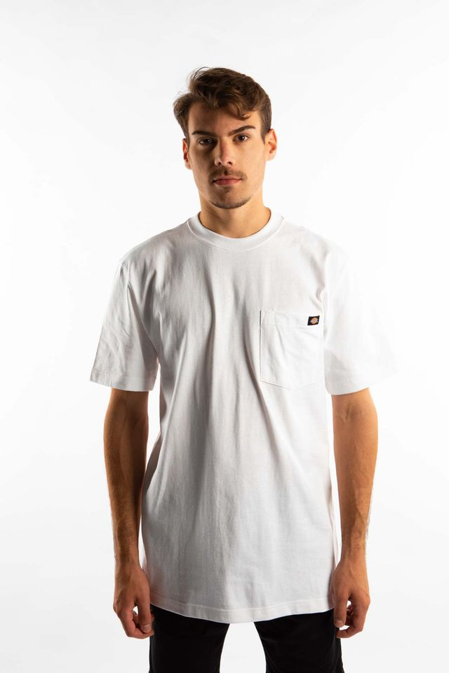 Dickies SHORT SLEEVE HEAVY WEIGHT 450 WH WHITE WS450