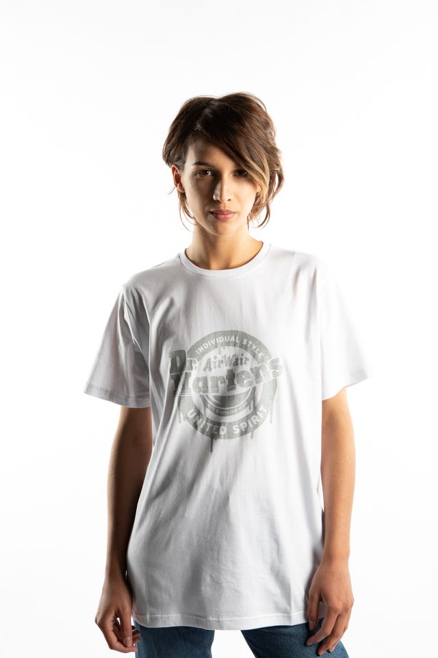 Dr. Martens UNITED SPIRIT INK DROP TEE 100 WHITE AC686100