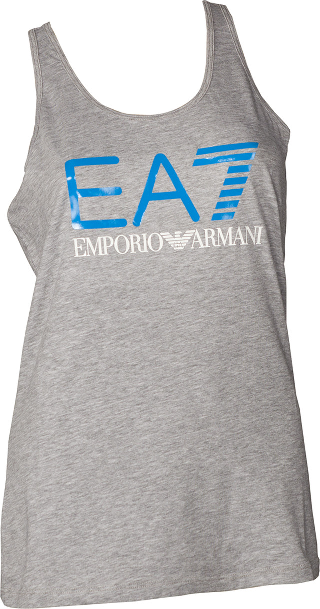 EA7 Emporio Armani TRAIN LOGO SERIES W TANK SHINY PRINT GREY MEL. MEDIUM/DRESDEN BLUE 3ZTH68TJ12Z-3905