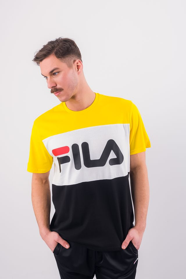 Fila MEN DAY TEE A063 BLACK/EMPIRE YELLOW/BRIGHT WHITE 681244-A063