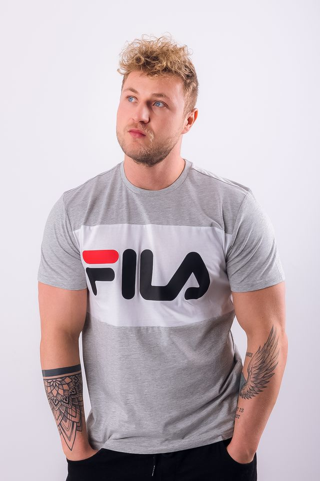 Fila MEN DAY TEE A068 LIGHT GREY MELANGE BROS/BRIGHT WHITE 681244-A068