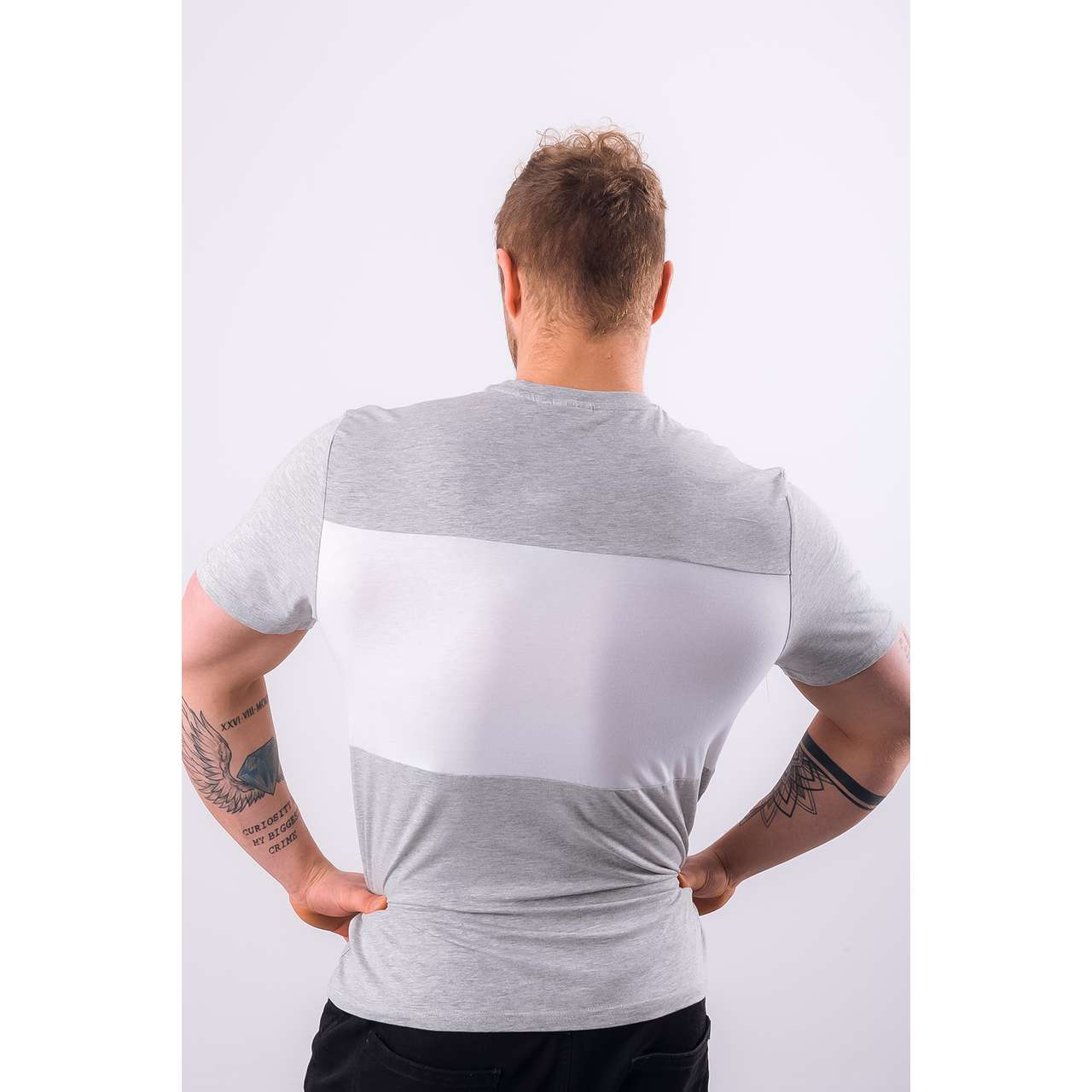 Koszulka Fila  <br/><small>MEN DAY TEE A068 LIGHT GREY MELANGE BROS/BRIGHT WHITE </small>  681244-A068