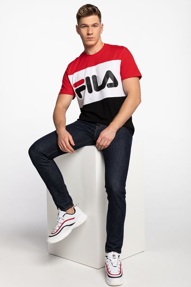 Fila DAY TEE A089 TRUE RED/BLACK/BRIGHT WHITE 681244-A089