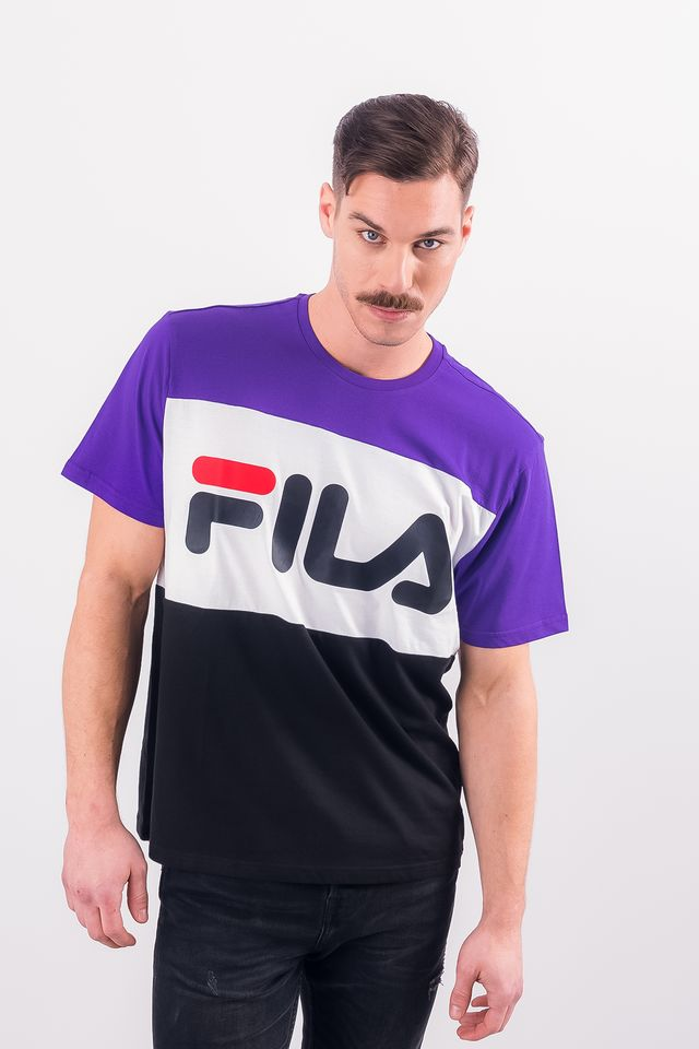 Fila MEN DAY TEE A178 BLACK/TILLANDSIA PURPLE/BRIGHT WHITE 681244-A178