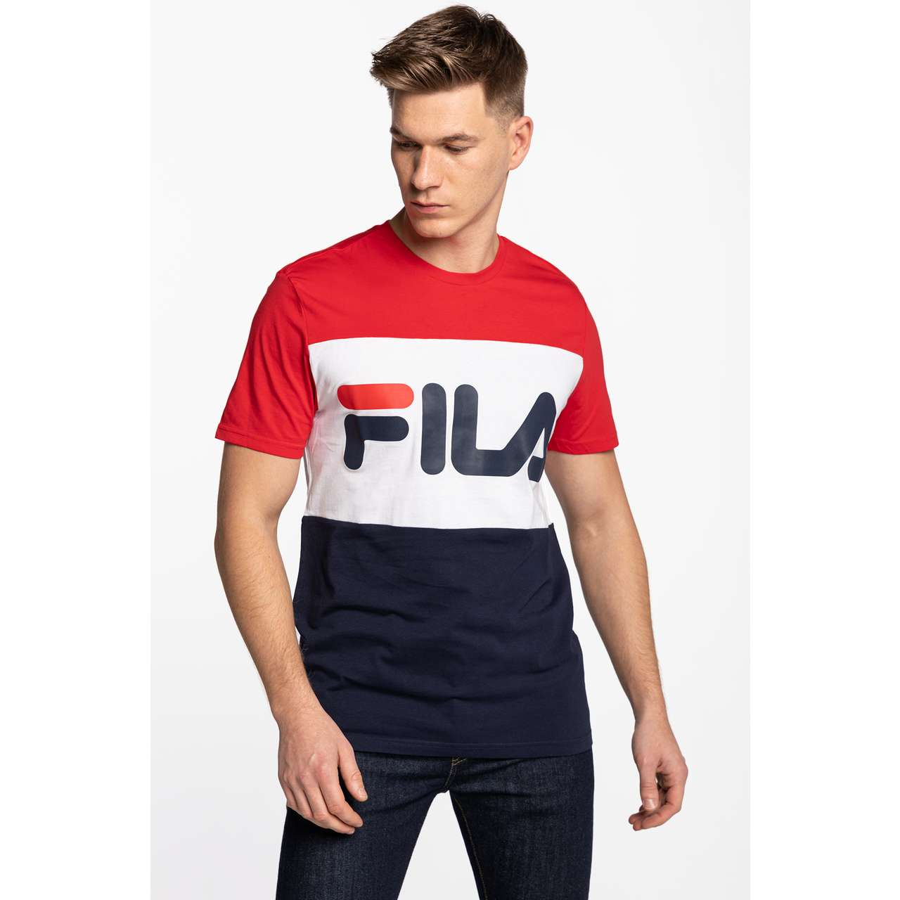 Koszulka Fila  <br/><small>MEN DAY TEE G06 BLACK IRIS/TRUE RED/BRIGHT WHITE </small>  681244-G06