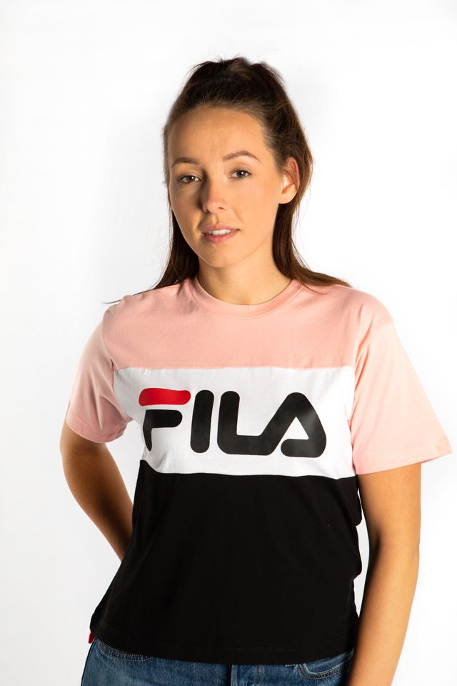 Fila ALLISON TEE A209 BLACK/QUARTZ PINK/BRIGHT WHITE 682125-A209
