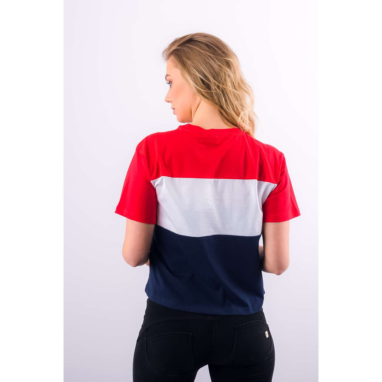 Koszulka Fila  <br/><small>WOMEN ALLISON TEE G06 BLACK IRIS/TRUE RED/BRIGHT WHITE </small>  682125-G06