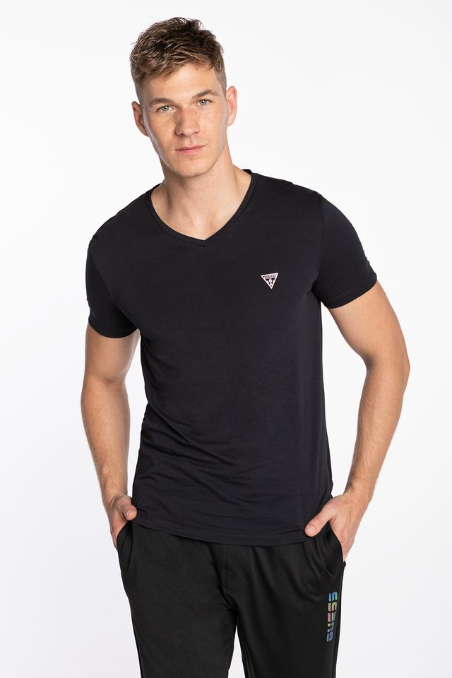 BLACK V NECK S/S 2PACK U97G03JR003-A996