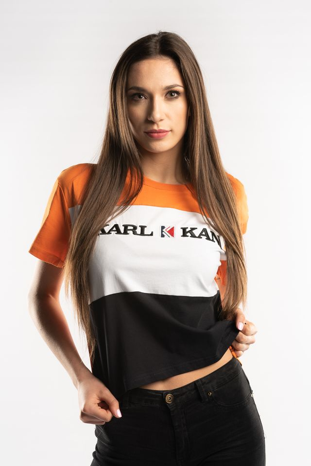 Koszulka Karl Kani  <br/><small>BLOCK TEE ORANGE/WHITE/BLACK </small>  6130297