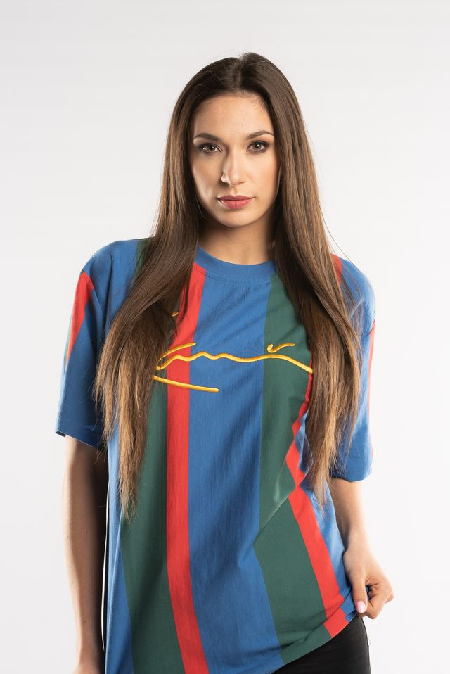 Karl Kani COLLEGE STRIPES TEE BLUE/GREEN/RED 6037532