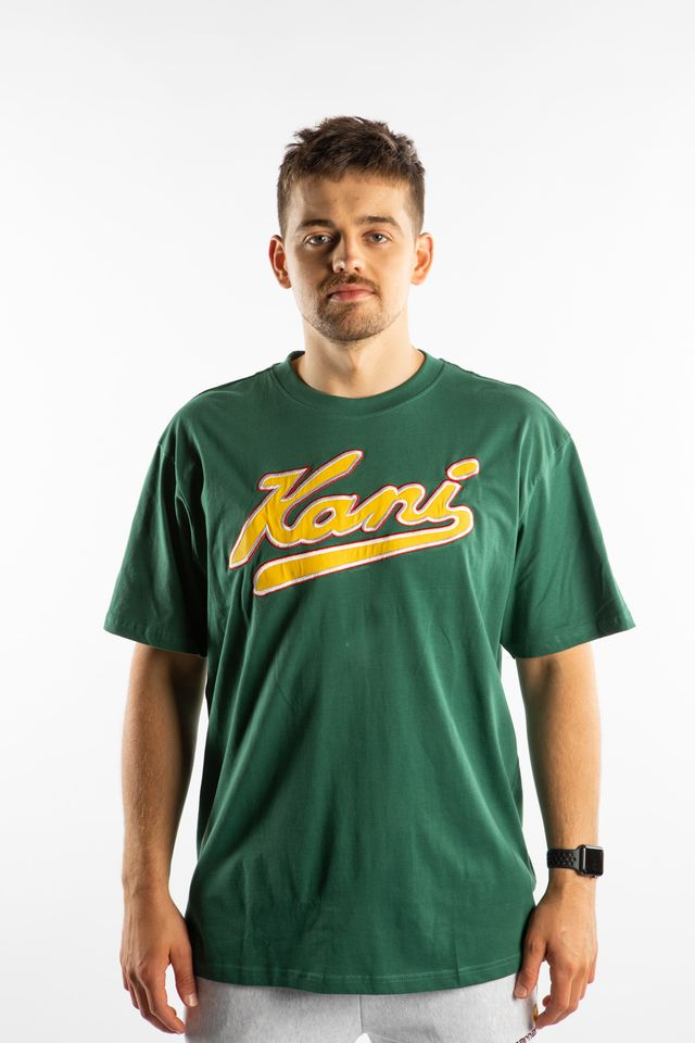 Karl Kani COLLEGE TEE 146 GREEN/YELLOW 6060146