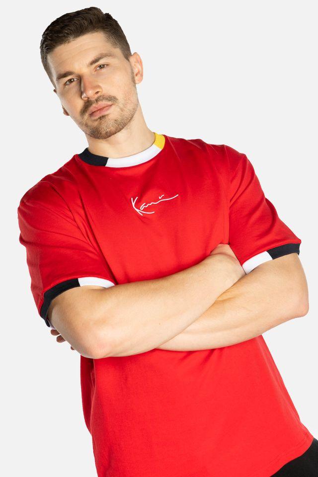 Karl Kani SIGNATURE RINGER TEE 593 RED/WHITE/BLACK/YELLOW 6060593
