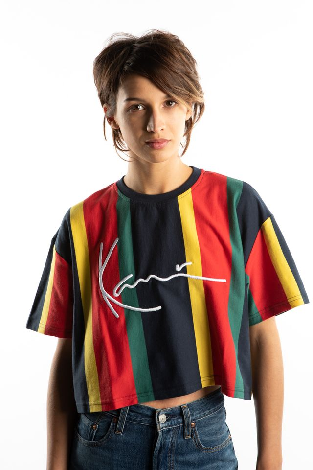 Karl Kani SIGNATURE STRIPE TEE 611 BLUE/YELLOW/RED/GREEN 6139611