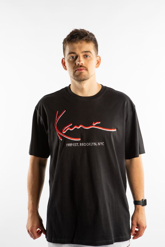 Karl Kani SIGNATURE TEE 149 BLACK/RED 6060149