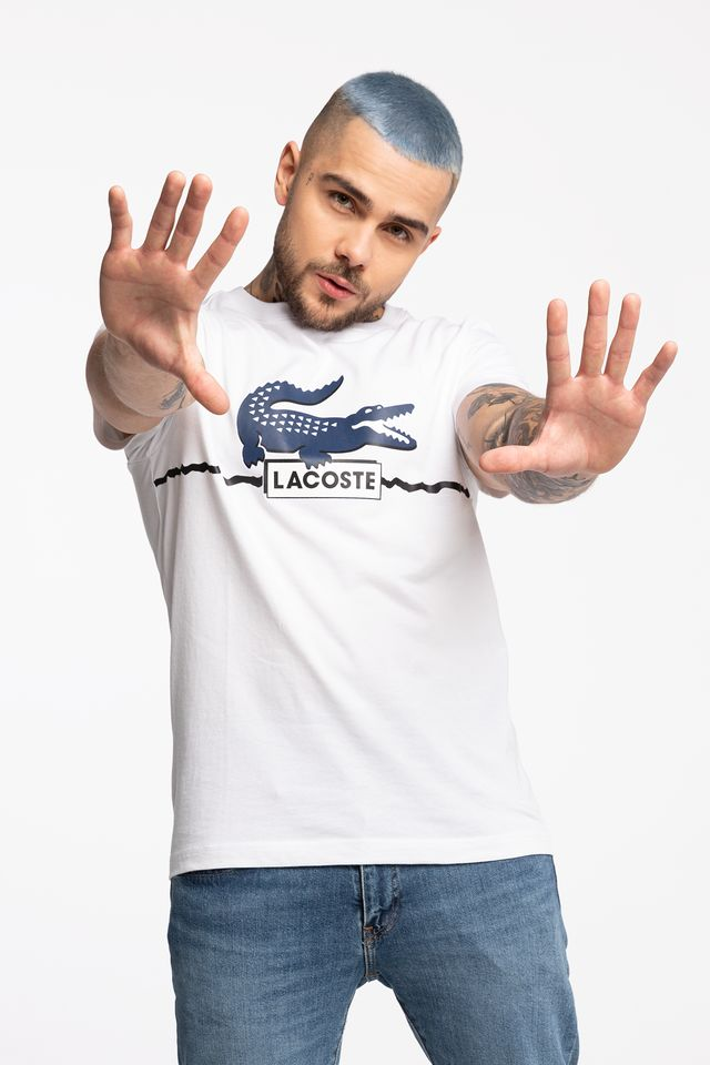 Lacoste SPORT TEE MC3 WHITE/NAVY BLUE/BLACK TH8684-MC3