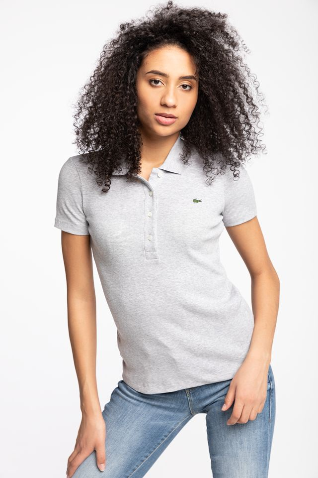 GREY CHINE WOMEN POLO CCA