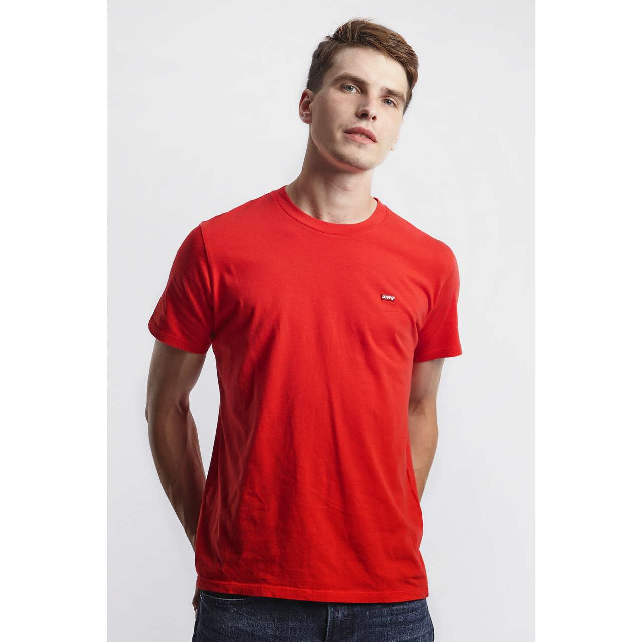 Koszulka Levi's  <br/><small>ORIGINAL HOUSEMARK TEE 0025 BRILLIANT RED </small>  56605-0025
