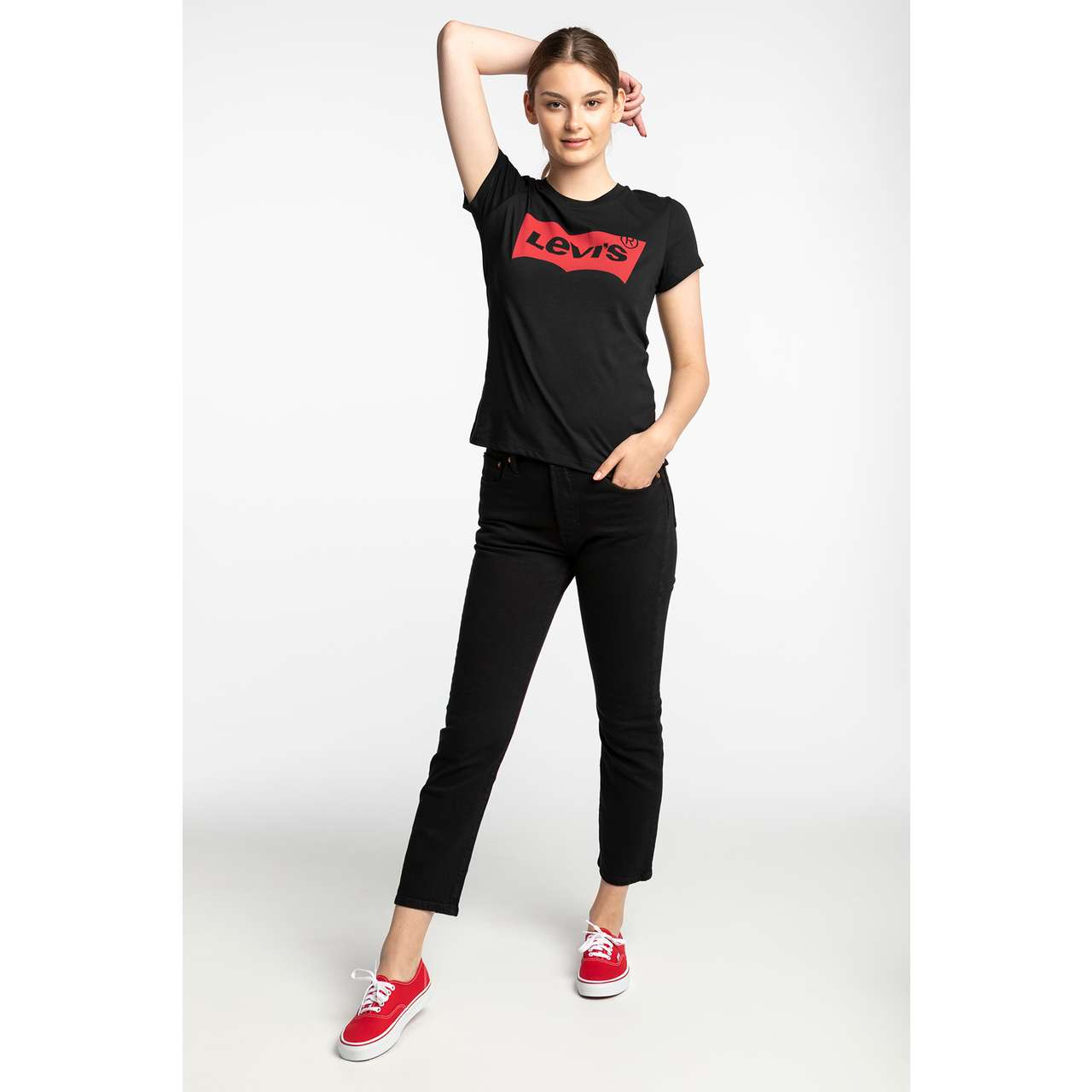 Koszulka Levi's  <br/><small>THE PERFECT GRAPHIC TEE 0201 LARGE BATWING BLACK </small>  17369-0201