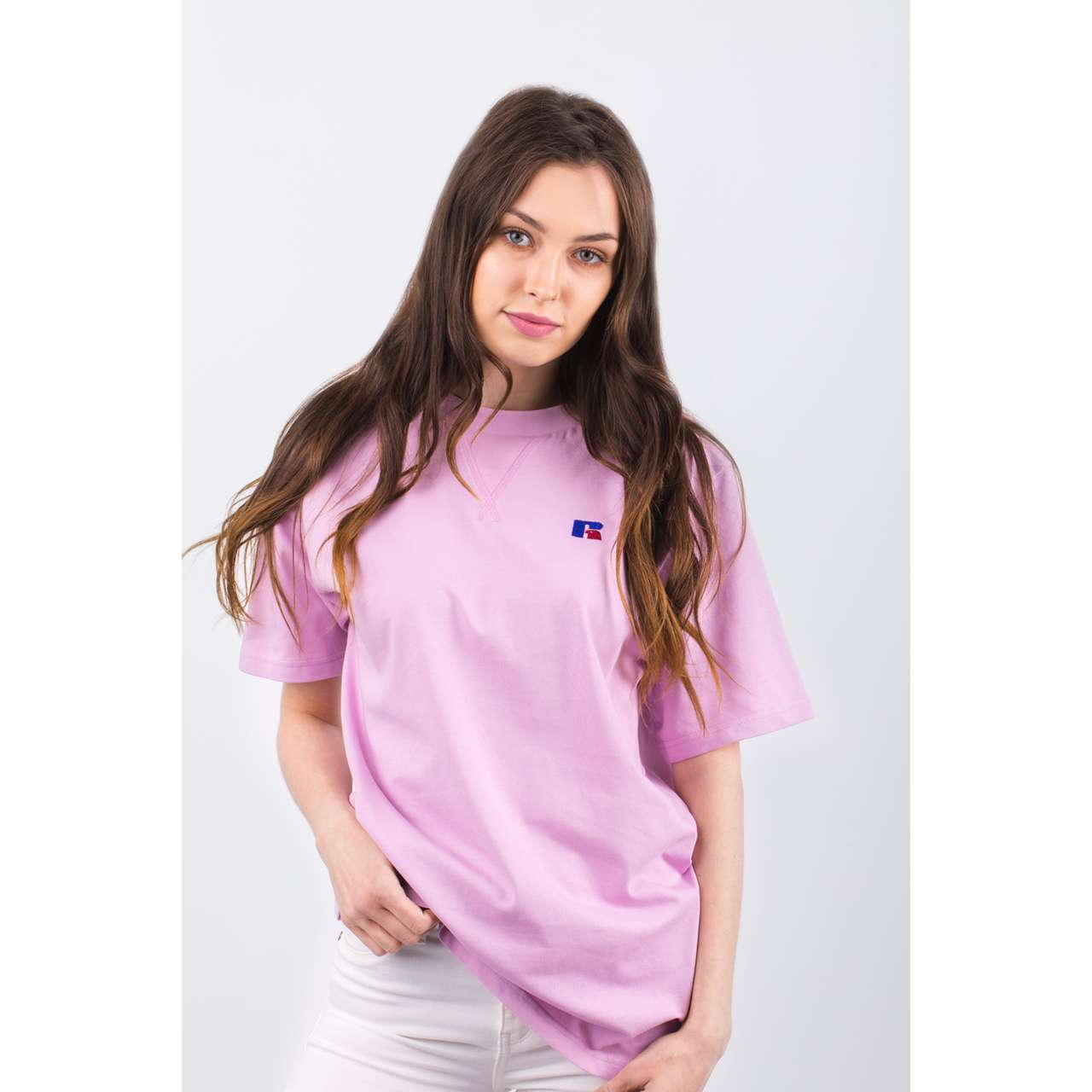Koszulka Russell Athletic  <br/><small>EAGLE R TEE 641 ORCHID </small>  E94021-641