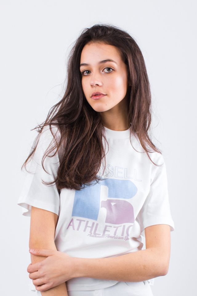 Russell Athletic GRAPHIC TEE 001 WHITE E94051-001