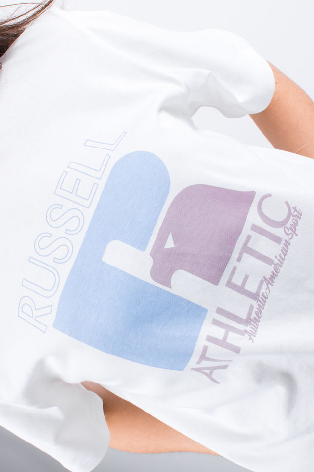 Koszulka Russell Athletic  <br/><small>GRAPHIC TEE 001 WHITE </small>  E94051-001