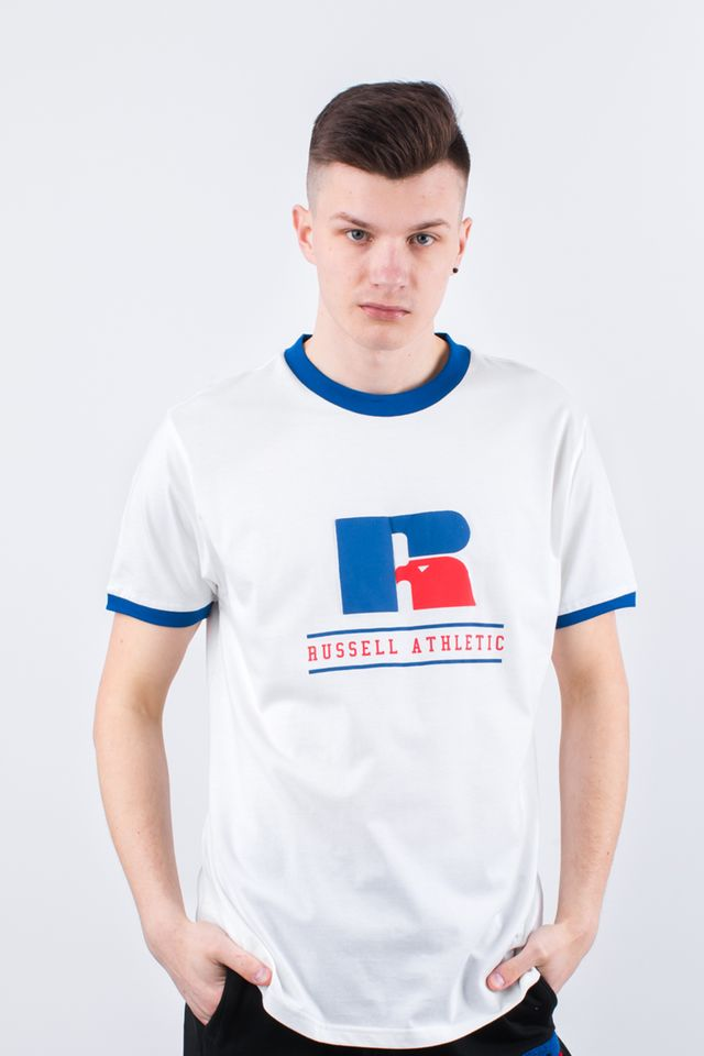 Russell Athletic RINGER TEE 001 WHITE E96031-001