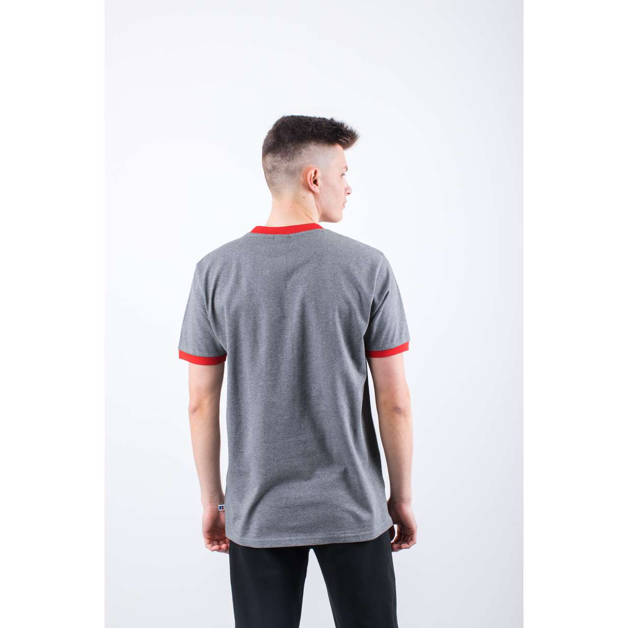 Koszulka Russell Athletic  <br/><small>RINGER TEE 090 COLLEGIATE GREY MARL </small>  E96031-090