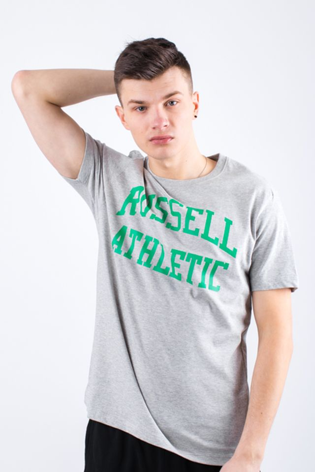 Russell Athletic CREW NECK TEE 091 NEW GREY MARL A90021F-091