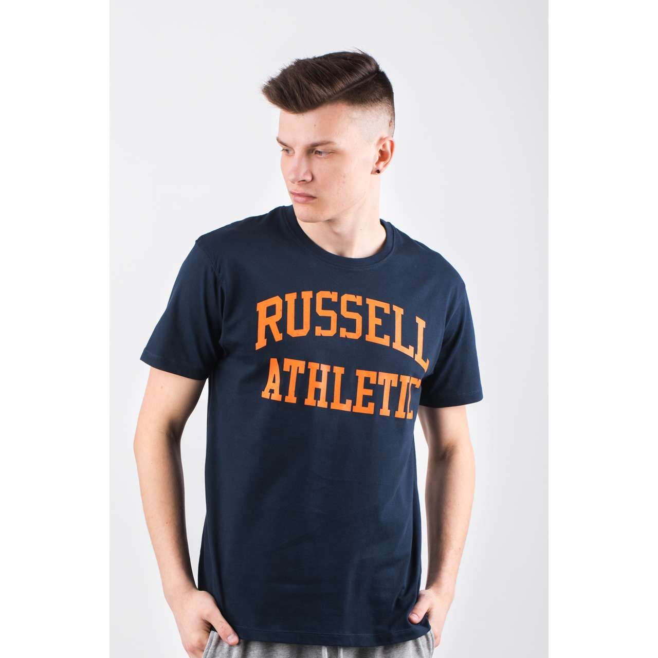 Koszulka Russell Athletic  <br/><small>CREW NECK TEE 290 NAVY </small>  A90021F-290