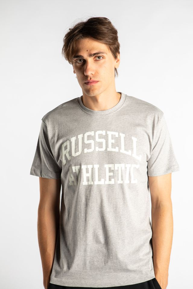 Russell Athletic CREWNECK TEE SHIRT 091 NEW GREY MARL A90842-091
