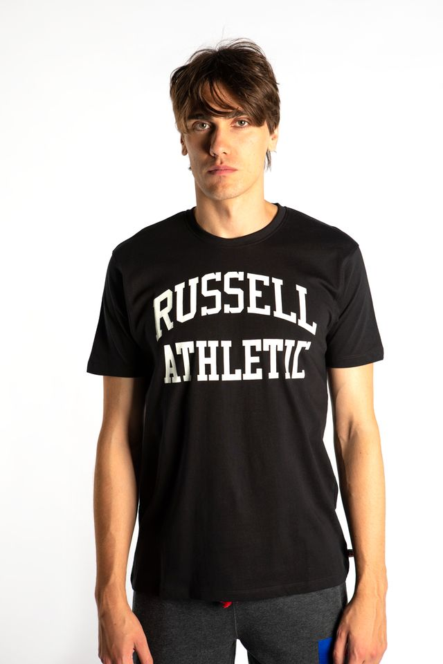 Russell Athletic CREWNECK TEE SHIRT 099 BLACK A90842-099