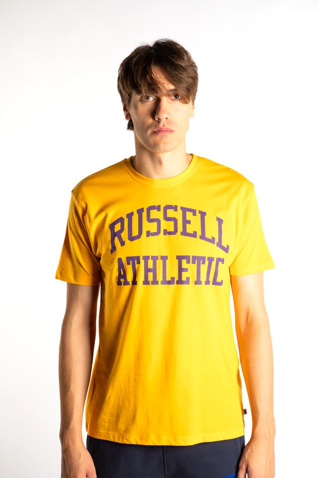 Russell Athletic CREWNECK TEE SHIRT 362 GOLD FUSION A90842-362