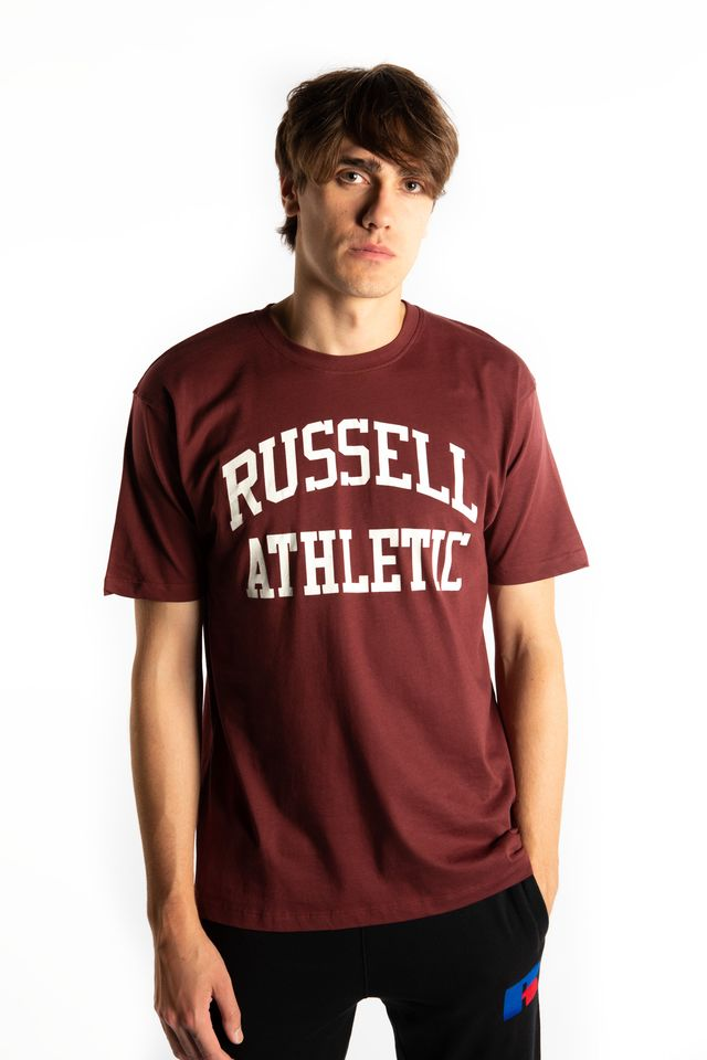 Russell Athletic CREWNECK TEE SHIRT 446 TAWNY PORT A90842-446