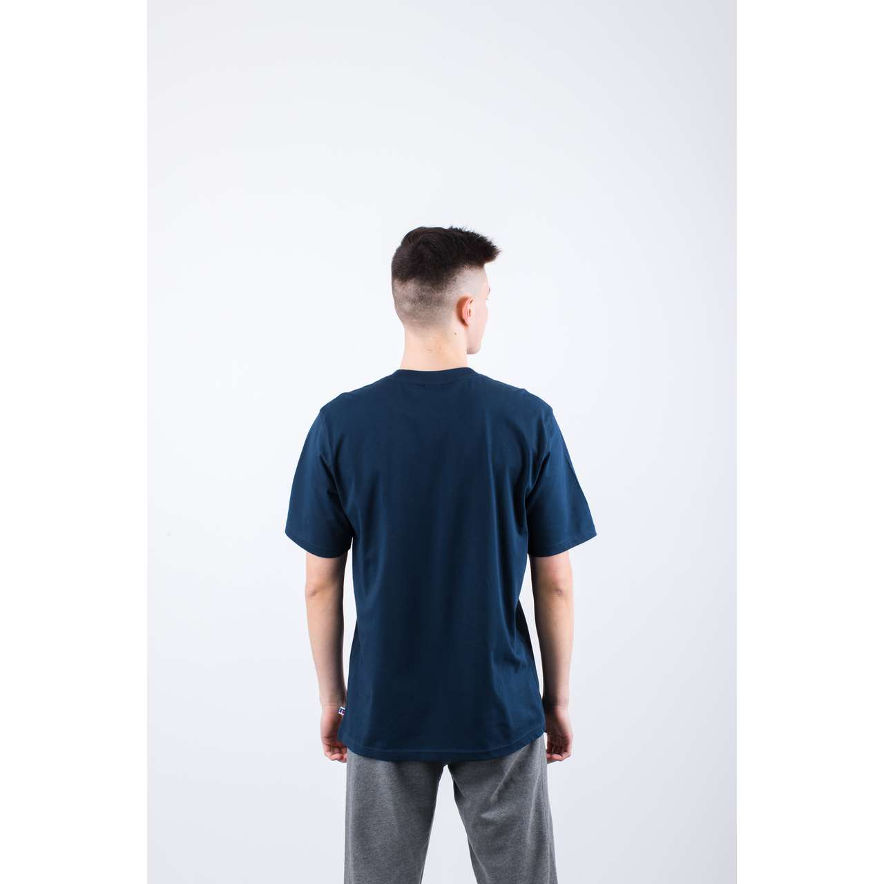 Koszulka Russell Athletic  <br/><small>FLOCK TEE 190 NAVY </small>  E96511-190