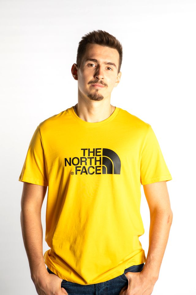 The North Face EASY TEE LR0 TNF YELLOW/TNF BLACK T92TX3LR0